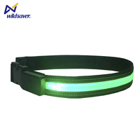 Top quality adjustable hiking cycling running led sport waist support belt