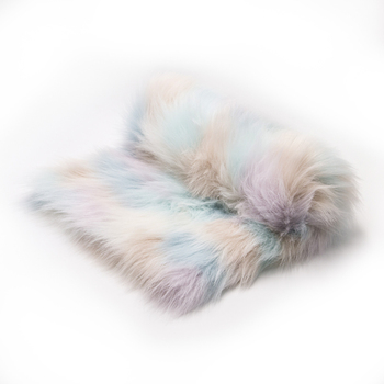 Hot selling Long Pile rainbow Fur Faux Fur Fabric for Garment/Home Textile