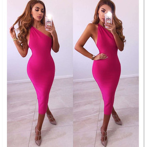 Women Bandage Dress 2019 Rayon Sleeveless Summer New Arrivals Sexy Vestido Bodycon Bandage Dress Club Party