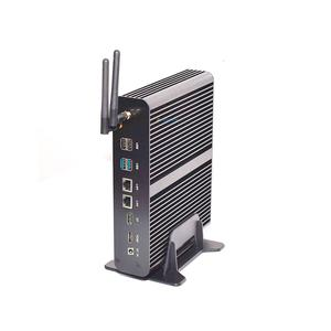 Image of Dual LAN 2 Ethernet Core i7 i5 i3 12v Fanless mini PC Computer Win10 Linux HTPC