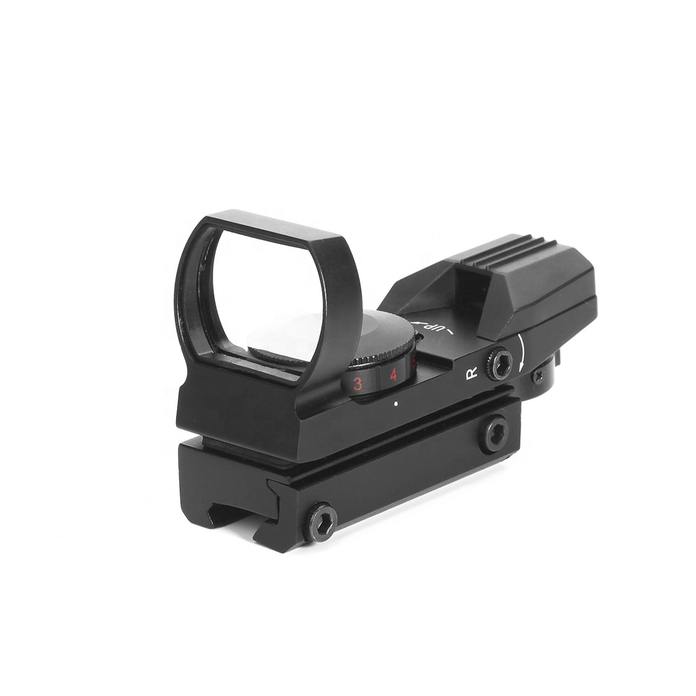 HY 1x22x33 4 Reticle HD101 Optics Holographic reflex red dot sight Hunting Scope, Matte black