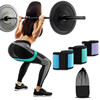 gym elastic fitness exercise latex leg hip resistance band set door anchor
