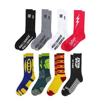 59b9ebe2b manufacturer wholesale oem woven custom logo mens socks design crew white  black cotton bamboo sport socks