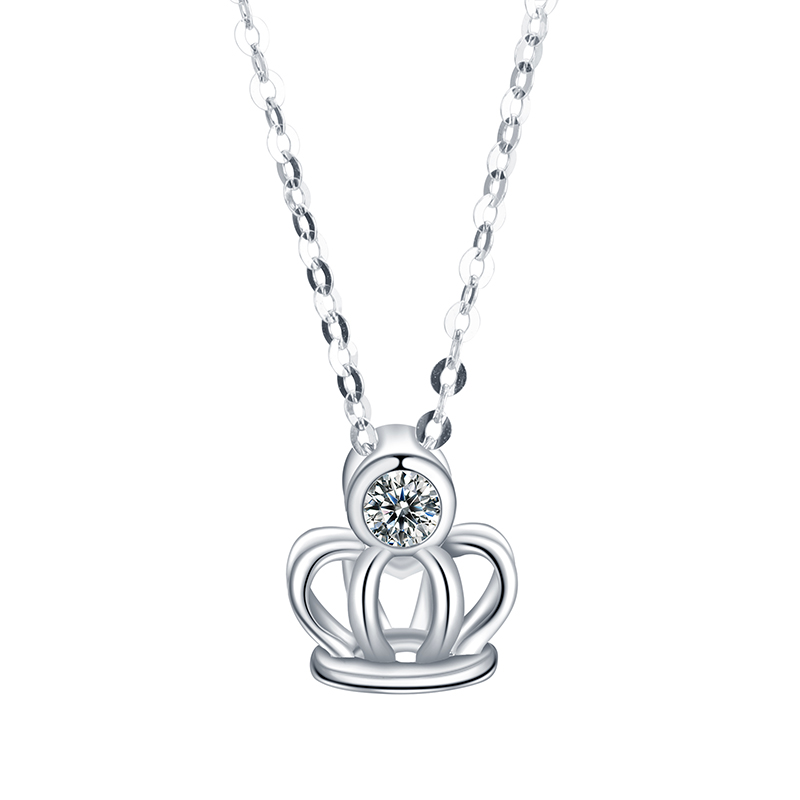 <strong>Fashionable</strong> and Unique14k 18k White Gold Moissanites Pendant Necklace for Anniversary's Gift