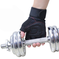 Amazon top quality custom half finger fitness sports gym weight lifting gloves for men
