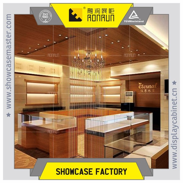 2017 Top rated royal gold jewelry store showcase design display