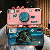 Factory wholesale IMD Camera Pattern Cell Phone Stand case for iphone 11 pro max X/XS,camera Case with holder for iphone XSmax