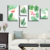 summer Cool Flamingo set map size custom Oil Painting Wall Art work decor Canvas Painting 5 Piece