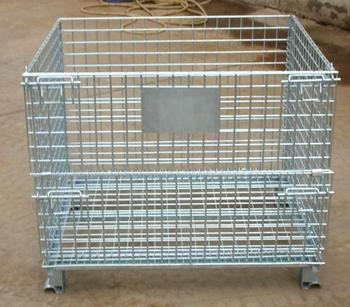 Customized Heavy Duty Foldable Wire Container for Warehouse, Logistics