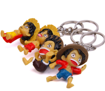 Cute PVC Cartoon Anime One piece Luffy figure Keychain/bag car keyring