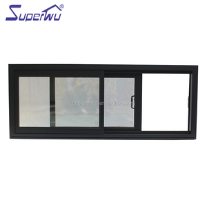 Factory price manufacture 2 tracks sliding glass aluminum window price for nepal market