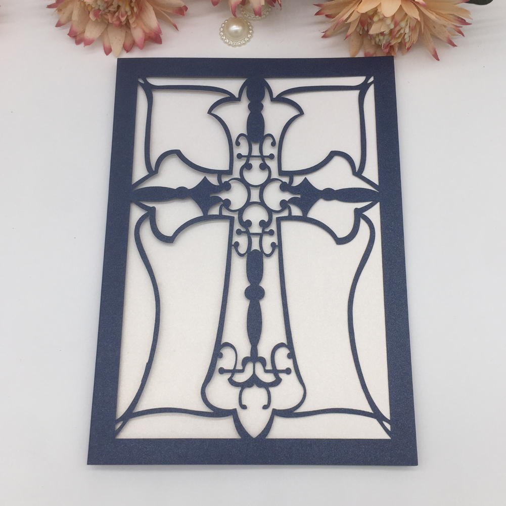 <strong>Luxury</strong> Pray Cross <strong>Wedding</strong> <strong>Invitations</strong> Card Birthday Party Bless Greeting Card