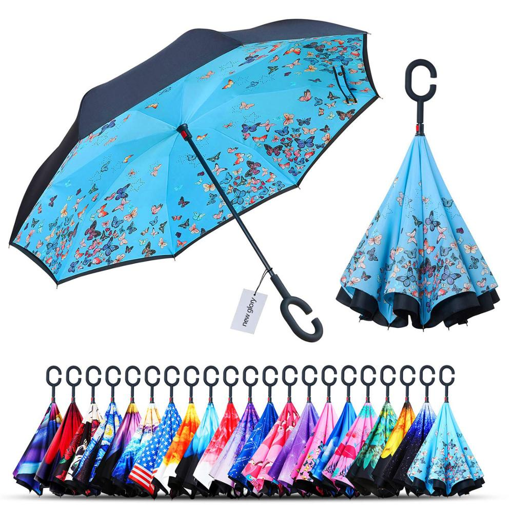"210T inverted reverse automatic car C shade umbrella ,49"" inches"