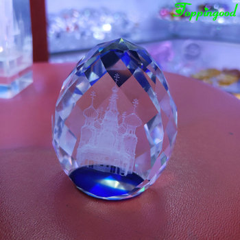 Laser Engrave Mosque Crystal Diamond Shape Wedding Islamic Keepsake