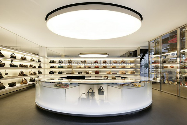 bags shop interior design wall bags display shelves showcase with display  counter