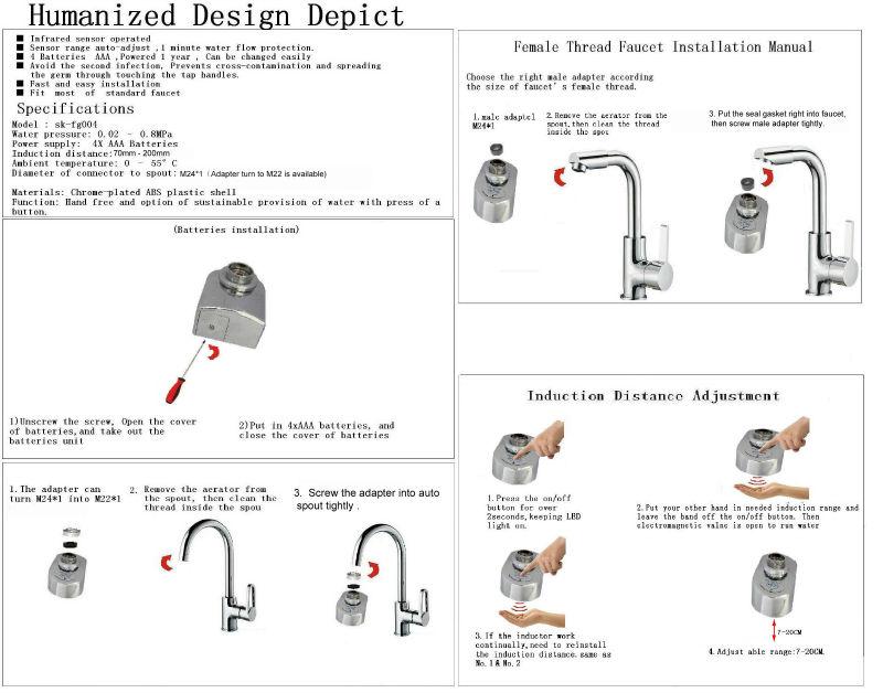Water Saving Flow Restrictors Auto Spout Sensor Nozzle Faucet - Buy Water  Conservation Infrared Sensor,Auto Spout Sensor,Nozzle Faucet Product on
