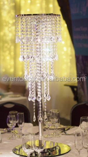 Wedding Crystal Chandelier Centerpieces Table