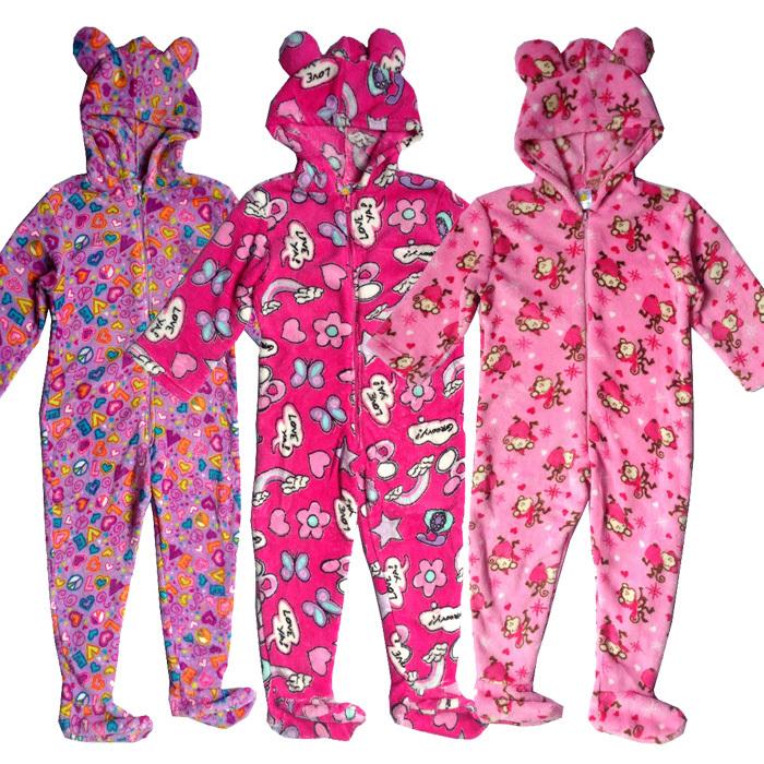 2016 Nuevas Muchachas de La Manera Niños Onesie Pijamas Pijamas de Patas  Con Capucha Fleece Jumpsuit 3-12Y Camisón de Dormir ropa de dormir Animal  Caliente ... d6bc28deebb8