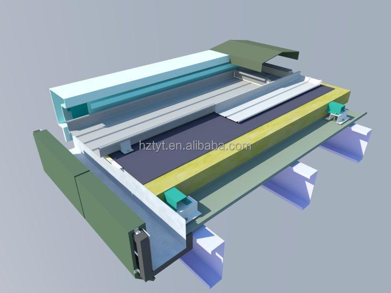 Estuco En Relieve De Aluminio Permanente Seam Roof Panel