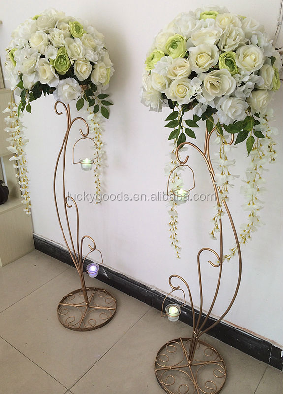Hot Sale Decorative 1 2m Metal Wedding Flower Stands Buy
