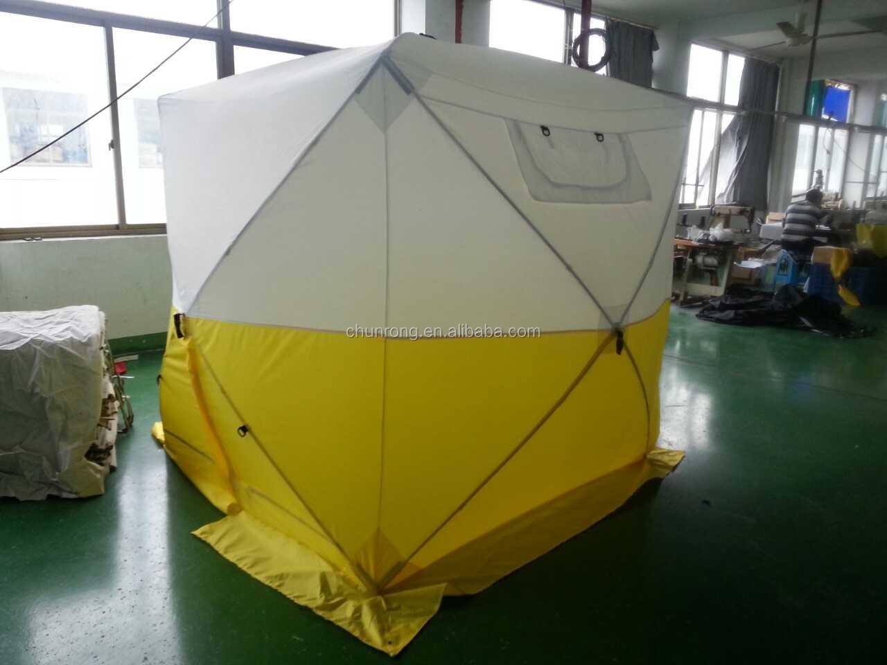 outdoor triangle pop up work tent waterproof one-piece trench tent & Outdoor Triangle Pop Up Work Tent Waterproof One-piece Trench Tent ...