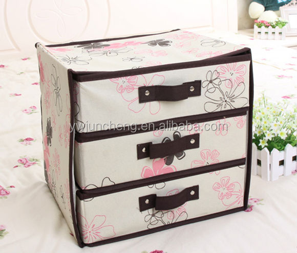 non tiss 3 couches 3 tiroirs d corative carton tiroir. Black Bedroom Furniture Sets. Home Design Ideas
