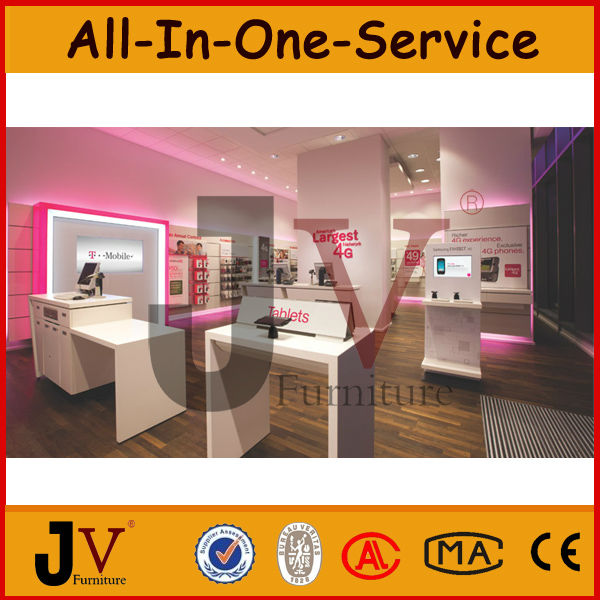 Modern Mobile Phone Store Interior Design And Shop Decorative Mobiles For Display