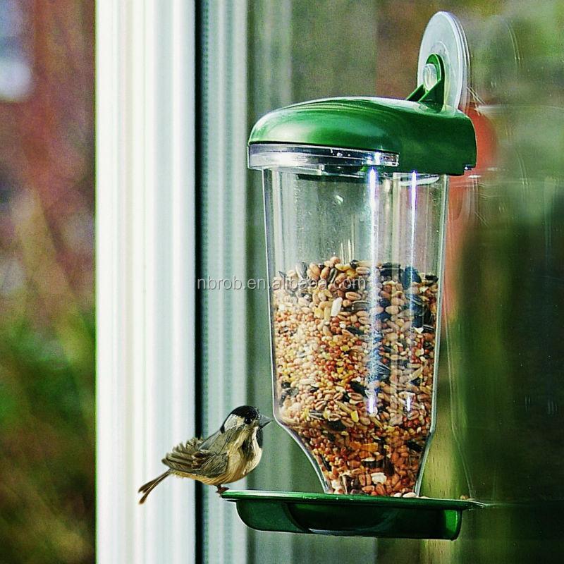 Garden Plastic Window Bird Feeder