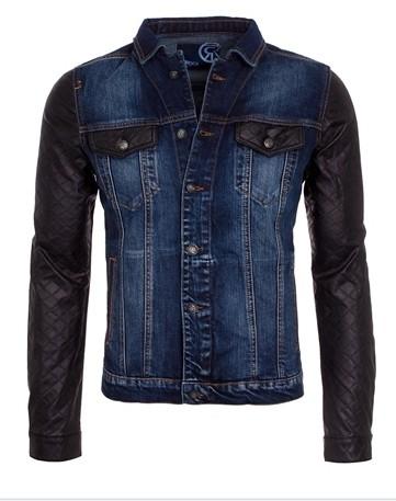 836907dd0d2fa 100% algodón blue jeans chaqueta chaqueta de cuero estilo Jean al por mayor