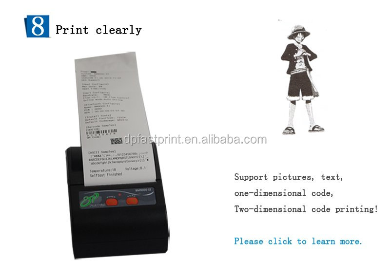 Battery Powered Bluetooth Mobile Android thermal Printer