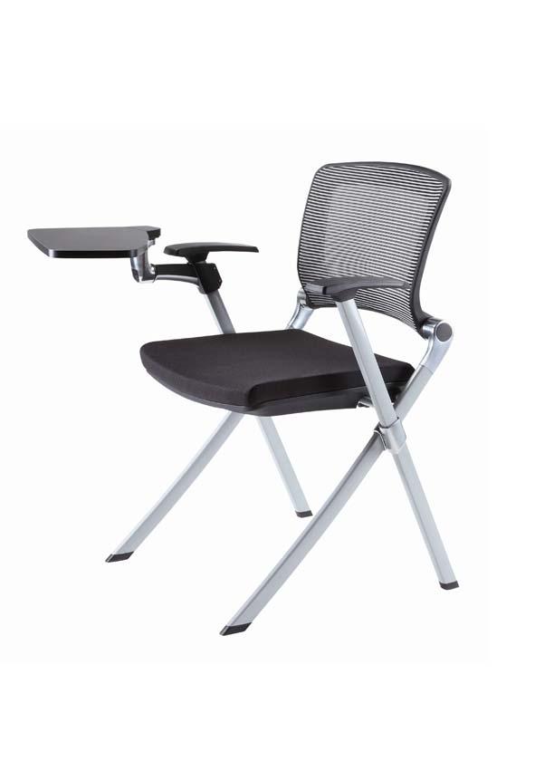 Haute Qualit Tissu Chaise Pliante Bureau Formation Avec Tablet SGS Certificat