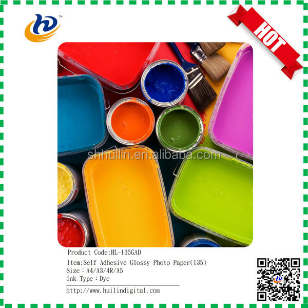 135gsm self adhesive glossy photo paper for inkjet printing