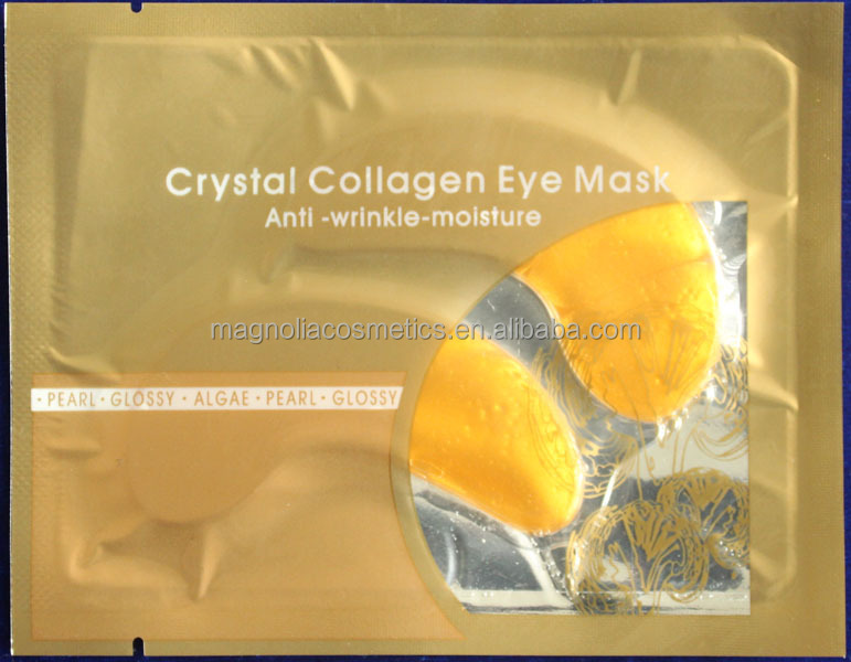 Pure 24K Gold crystal collagen eye mask anti-aging cool gel eyes cover relaxing magic ice eye mask