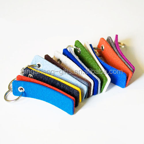 promotion fashion Mobile phone line/felt keychain