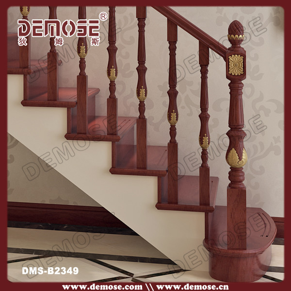 Charming Modern Round Wood Stair Handrail