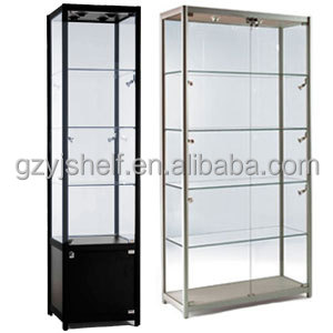 Attirant New Custom Living Room Glass Showcase Boutique Design