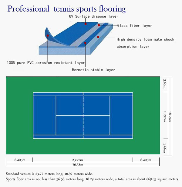 Pvc Flooring With Sand Grain Pattern For Tennis Court Buy Vinyl