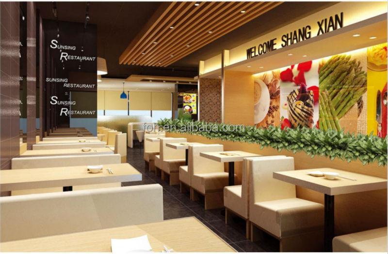 Guangzhou modern restaurant furniture booth sofa foh xm