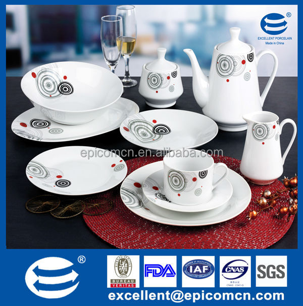 47pcs round porcelain dinner set EX7576