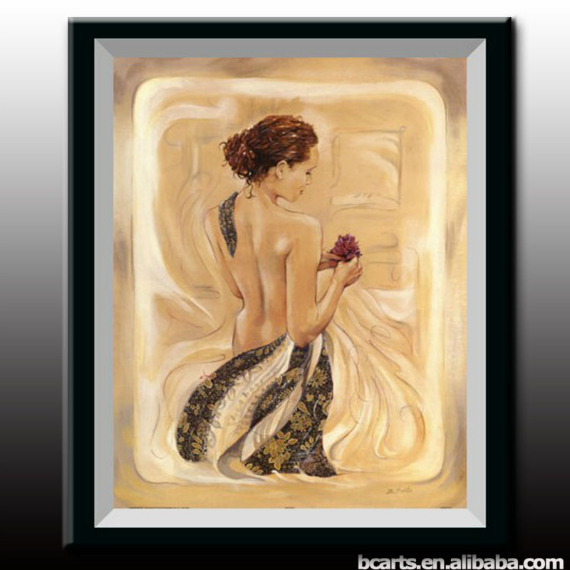Handpainted European Canvas Naked Abstract Beauty Back Lady ...