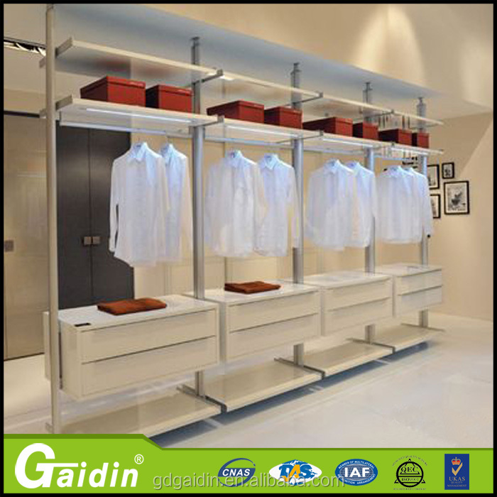 Modern Whole China Factory Aluminum Wardrobe Pole System And Closet Accessories
