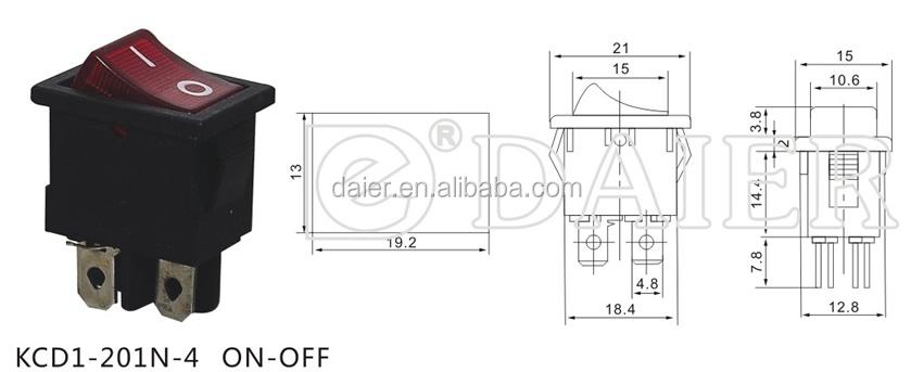 Kcd1201n   4    Aanuit 220v Verlicht    4   pins Lamp Schakelaar  Buy Lamp Schakelaar    4   pins Lamp
