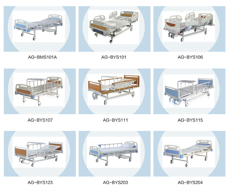 Ag fb001 easy operating manual medical hospital folding for Different type of beds