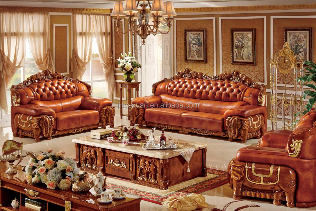 Living Room Furniture European Leather Sofa With Coffee Table W320c# - Buy  Leather Sofa,European Style Leather Sofa,Sofa Set Product on Alibaba.com