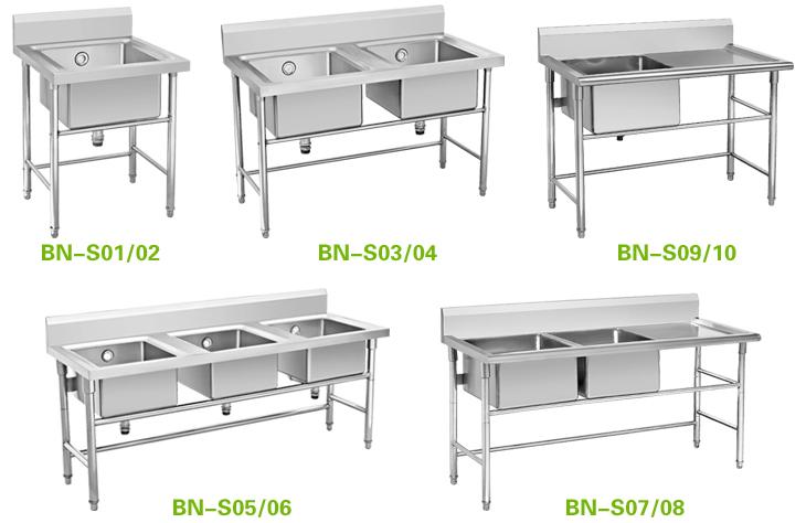 Single Bowl Stainless Steel Wash Basin Kitchen Lab Sink