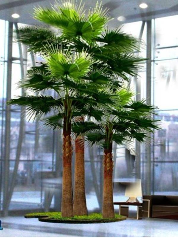d coration d 39 int rieur 100mg souchesde palmier artificiel 0490 sj065 arbres artificiels id. Black Bedroom Furniture Sets. Home Design Ideas