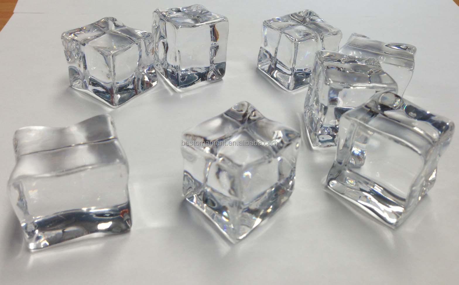 Acrylic ice cubes buy plastic clear