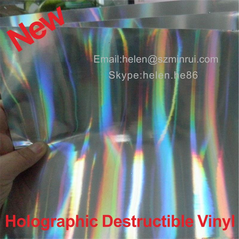 New Arriver Unique Glossy Silver Holographic Destructive