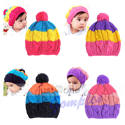 b1b4cad20 Free Shipping New Cute Colors Baby Child Kid Girl Boy Stretchy Winter Warm  Ball Hat Cap Beanie - Unfair Weight