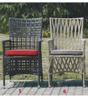 All Weather Outdoor Plastic Weaving Rattan Chairs